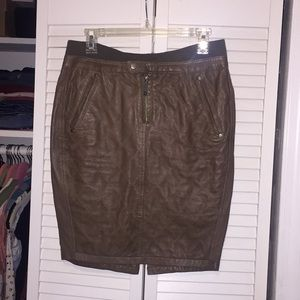 Diesel Taupe Leather skirt size 28